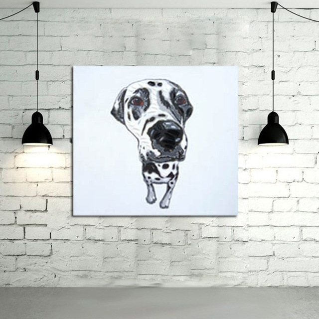 Modern Art Good Quality Animal Wall Art Oil Painting Abstract Dog Within  Abstract Dog Wall Art
