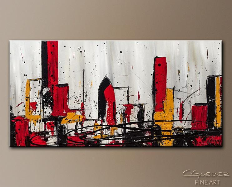 Modern City Abstract Art|Abstract Wall Art Paintings For Sale Regarding Contemporary Abstract Wall Art (View 6 of 20)