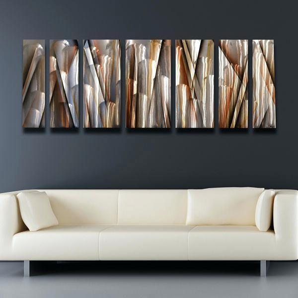 Modern Metal Wall Art Decor Ripple Effect Modern Abstract Metal Pertaining To Abstract Metal Wall Art (Image 15 of 20)
