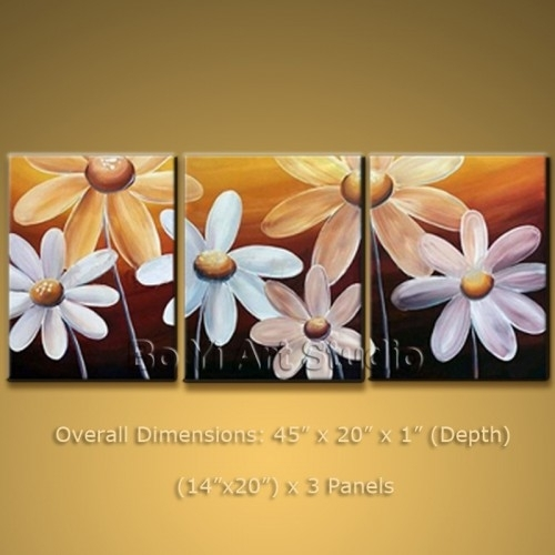 Modern Oil Paintings Contemporary Canvas Art Egg Flower #2014 For Abstract Flower Wall Art (Image 14 of 15)