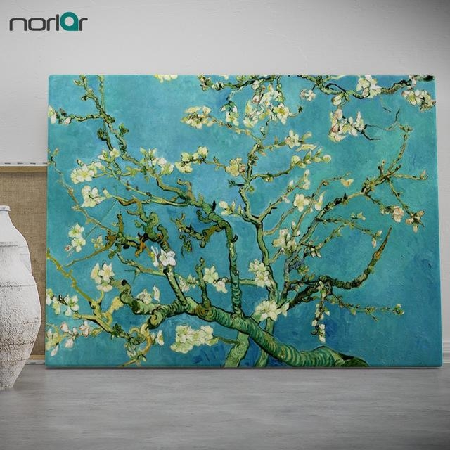 Modern Wall Art Picture Almond Blossomvincent Van Gogh Prints Inside Almond Blossoms Vincent Van Gogh Wall Art (Image 12 of 20)