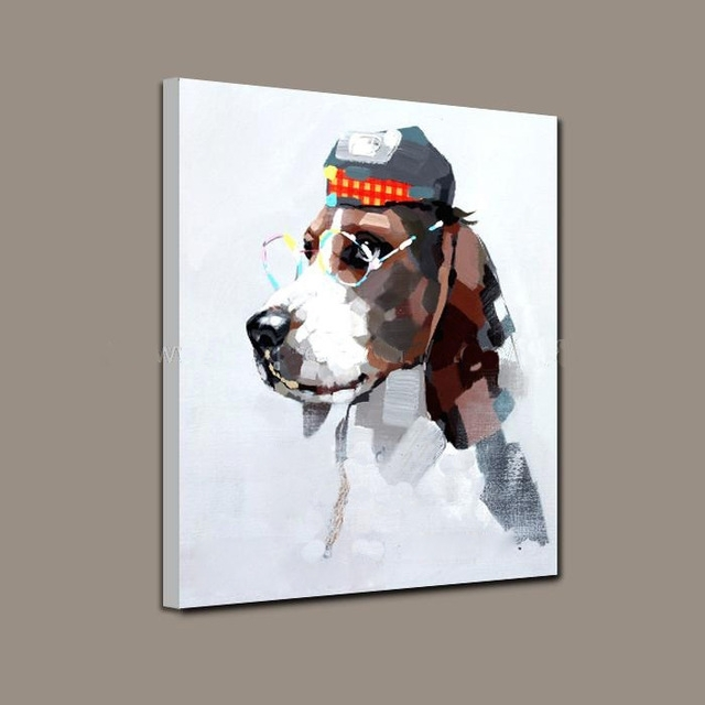 Modern Wall Art Wholesale Good Quality Animal Oil Painting With Abstract Dog Wall Art (Image 11 of 15)