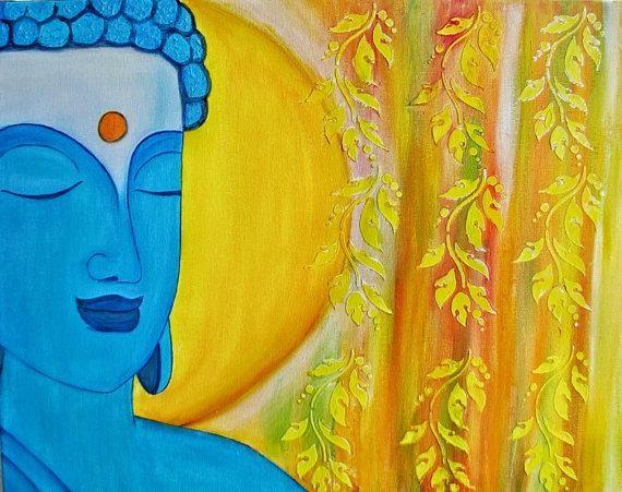 Modern Zen Buddha Spiritual Painting, Buddha Abstract Wall Art With Abstract Buddha Wall Art (View 20 of 20)