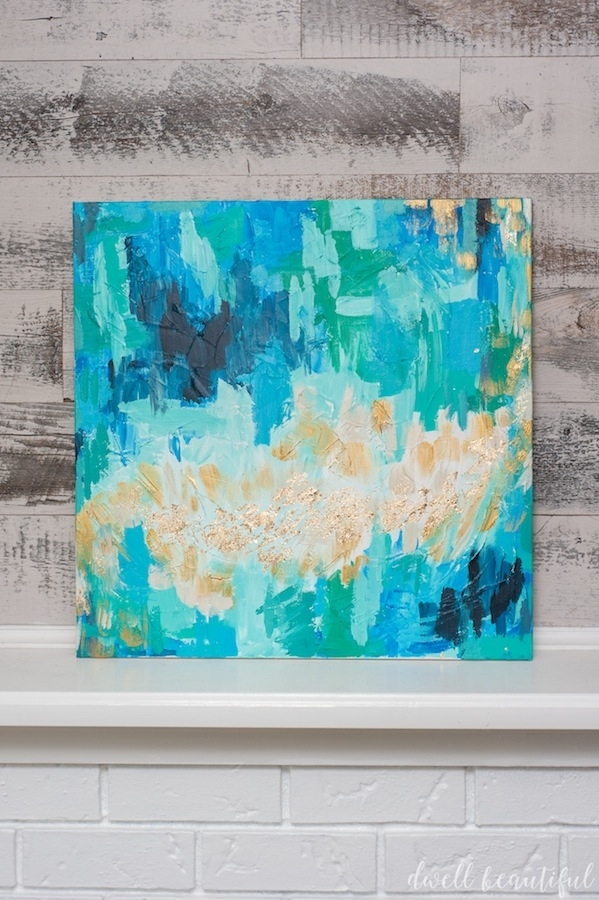 Monthly Diy Challenge: Abstract Canvas Art That Anyone Can Make For Dwell Abstract Wall Art (View 2 of 15)