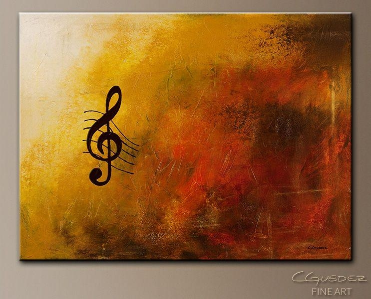 Music Paintings | Abstract Art Paintings – G Symphony – Music Art In Abstract Musical Notes Piano Jazz Wall Artwork (View 5 of 20)