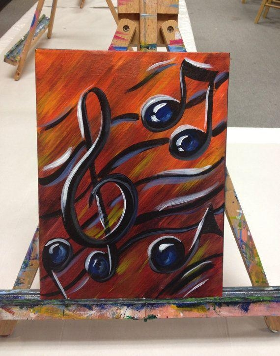 Musical Notes Paintings – Google Search | Canvas Painting Ideas For Abstract Musical Notes Piano Jazz Wall Artwork (Image 13 of 20)