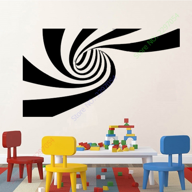 New 2 Different Designs 3D Abstract Vinyl Wall Sticker Art Wall Within Abstract Art Wall Decal (Image 9 of 15)