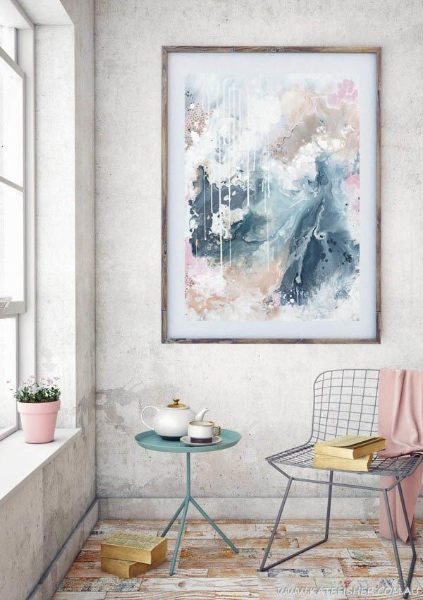 """Nordic Sky – Prelude"""" Abstract Wall Art Print – Kate Fisher Artist Within Abstract Wall Art Australia (View 13 of 20)"""