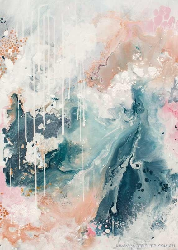 """Nordic Sky – Prelude"""" Abstract Wall Art Print – Kate Fisher Artist Within Australian Abstract Wall Art (Image 14 of 20)"""