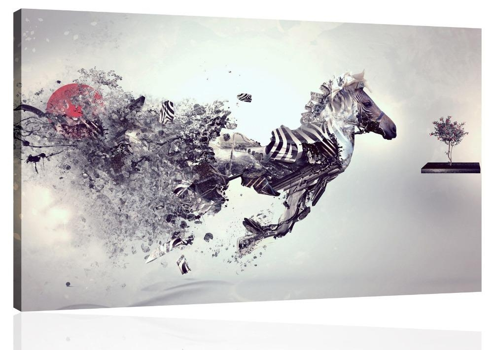 Not Framed Canvas Prints Home Decor Modern Bedroom Wall Art With Abstract Animal Wall Art (View 19 of 20)