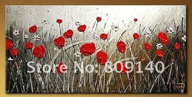 Oil Painting Canvas Abstract Flower Modern Decoration High Quality For Abstract Flower Wall Art (Image 15 of 15)