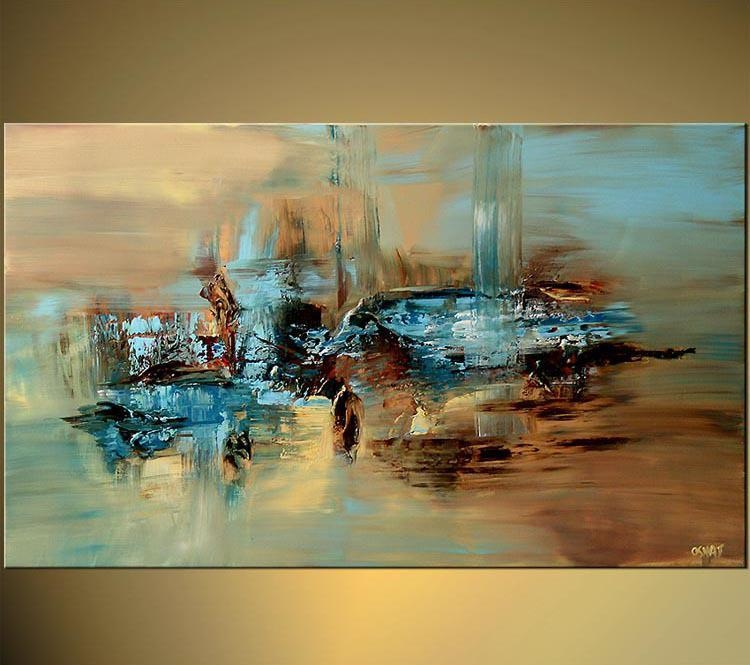 Online Cheap 100% Handmade Abstract Oil Painting Large Wall Art On Intended For Large Abstract Wall Art (View 3 of 20)
