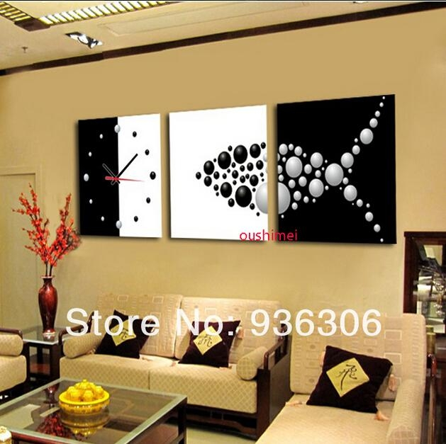 Online Shop Hand Painted Abstract Clock Paintings For Living Room Inside Abstract Clock Wall Art (View 19 of 20)