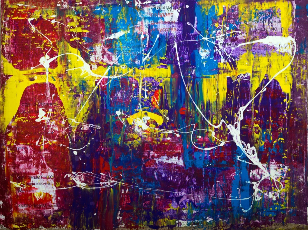 """Original Art Large Wall Art – """"shnurov's Aphorism Abstract 11 Intended For Abstract Expressionism Wall Art (Image 14 of 15)"""