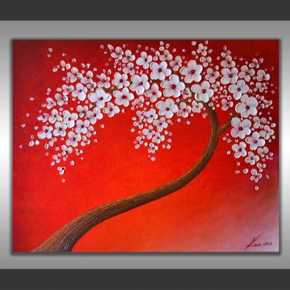 Featured Image of Abstract Cherry Blossom Wall Art