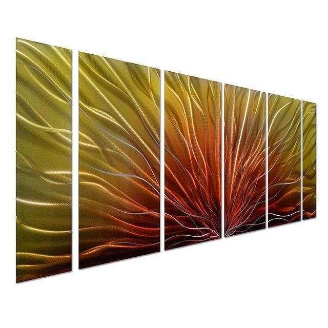 Original Handcraft Aluminum Metal Wall Art Peacock Feather 3D Inside Aluminum Abstract Wall Art (Image 19 of 20)
