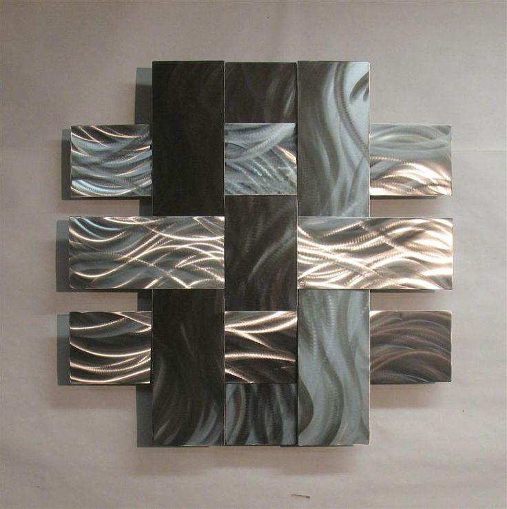 Outdoor Metal Wall Decor Steel Wall Art Wall Sculptures Metal Wall Regarding Abstract Aluminium Wall Art (Image 15 of 20)