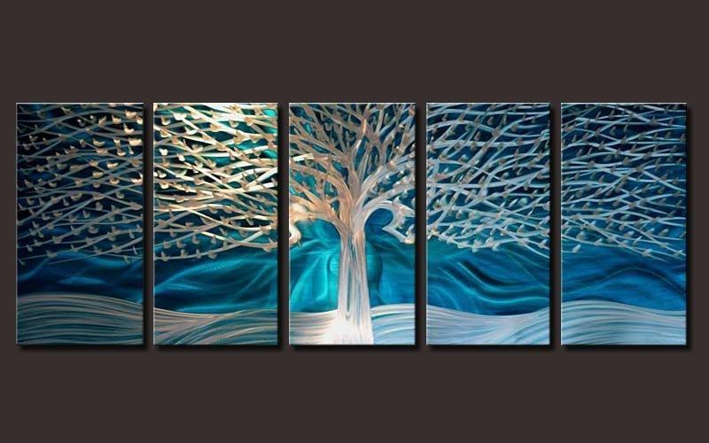 Outstanding Artwork Metal Wall Art Painting Abstract Wall Artwork Throughout Blue Abstract Wall Art (View 12 of 20)