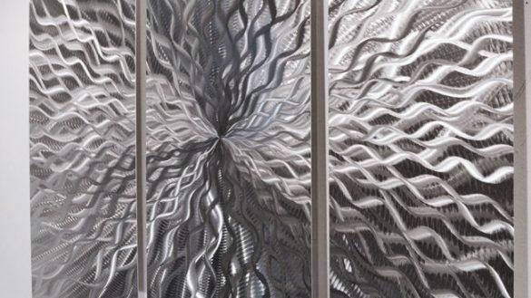 Outstanding Modern Abstract Metal Wall Sculpture Art Contemporary Intended For Abstract Angkor Swirl Metal Wall Art (Image 6 of 20)