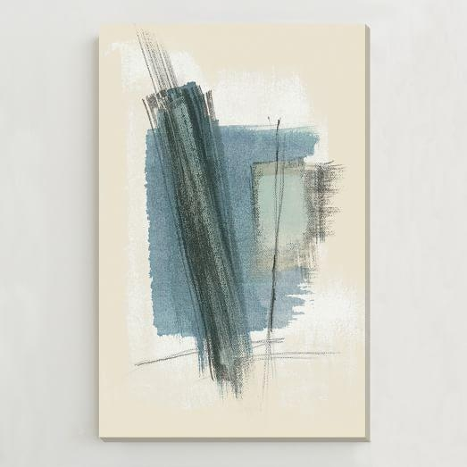 Oversized Abstract Wall Art | West Elm In Blue Abstract Wall Art (Image 15 of 20)