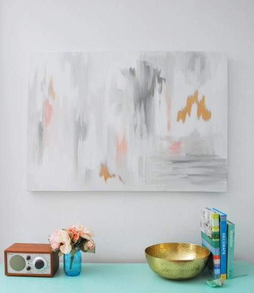 Oversized Diy Abstract Wall Art Piece | Diy (Image 19 of 20)