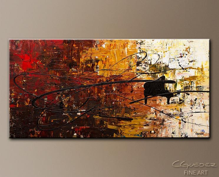 Piano Paintings – Google Search | Piano | Pinterest | Pianos Within Abstract Musical Notes Piano Jazz Wall Artwork (View 10 of 20)