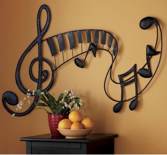 Pretty Sure I Should Paint Something Like This On My Little Music With Regard To Abstract Musical Notes Piano Jazz Wall Artwork (View 7 of 20)
