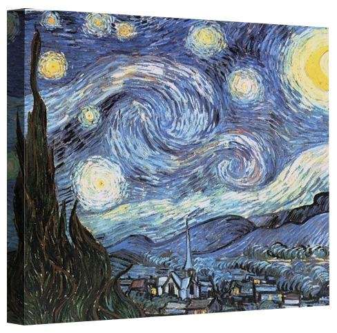 Print The Starry Nightvincent Van Gogh On Canvas In Vincent Van Gogh Wall Art (View 19 of 20)