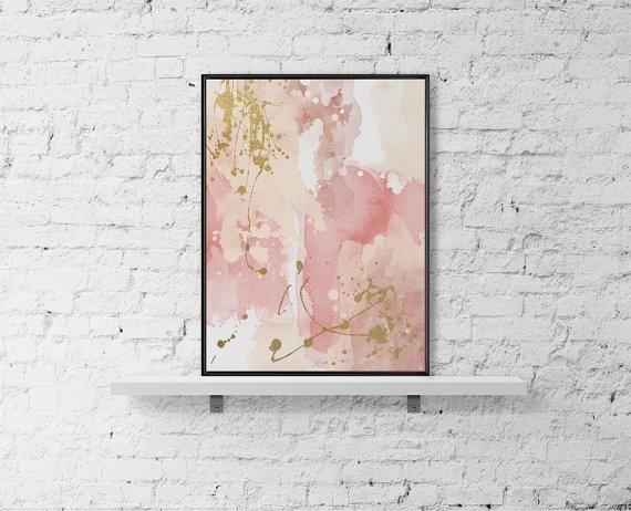 Printable Wall Art Pastel Print Abstract Paint Watercolor Poster In Printable Abstract Wall Art (Image 14 of 15)