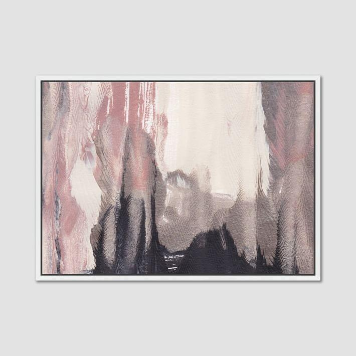 Rabbit Sandstorms Blush Abstract Wall Art Throughout Framed Abstract Wall Art (Image 17 of 20)