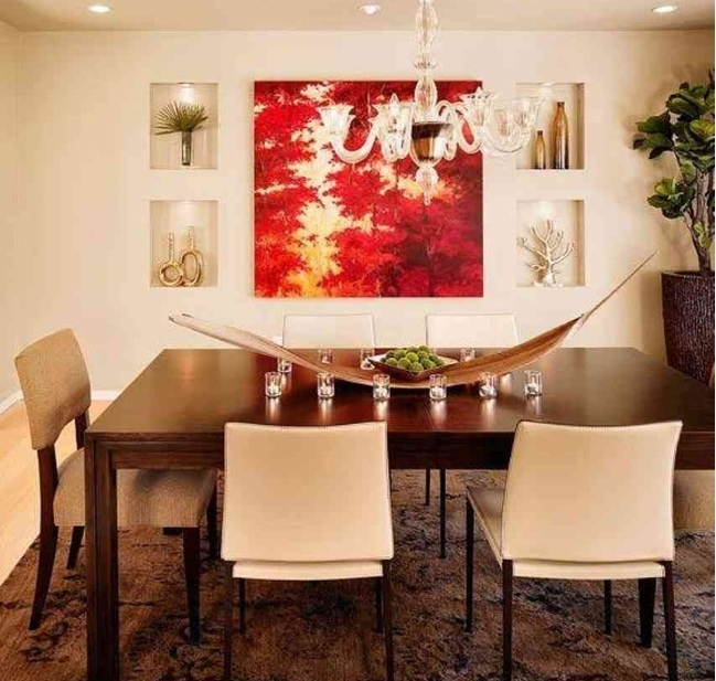 Red And White Abstract Wall Art For Dining Room Ideas   Decolover Inside Abstract Wall Art For Dining Room (Image 11 of 15)