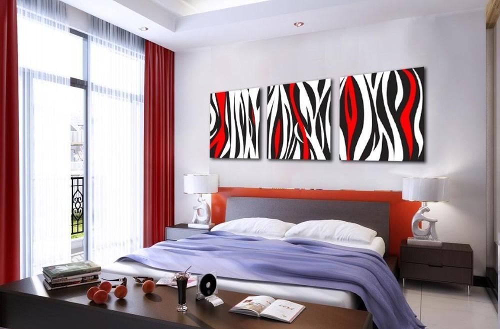 Red Modern Abstract Wall Art Oil Painting Canvas Large – Dma Homes In Abstract Wall Art For Bedroom (Image 15 of 20)