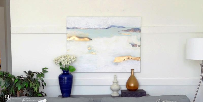 Remodelaholic | How To Successfully Paint An Abstract Painting In Diy Abstract Wall Art (Image 20 of 20)