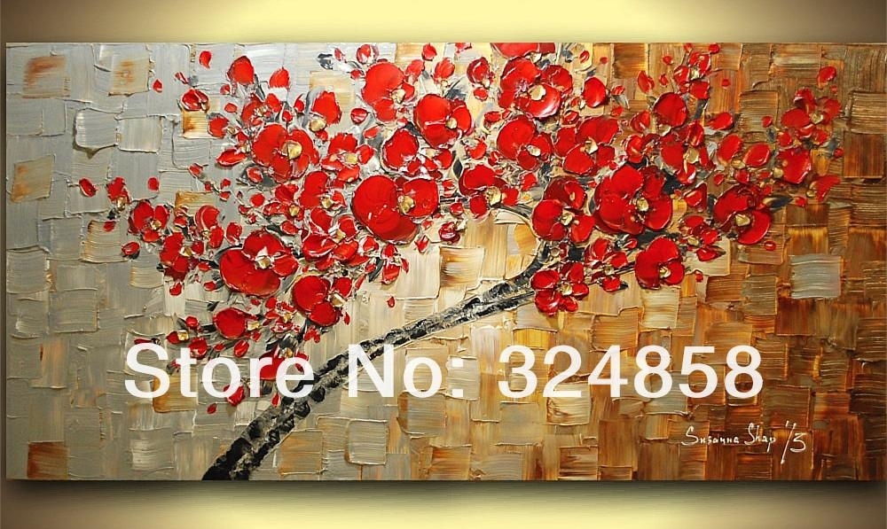 Sculpture Copper White Bule Gold Abstract Modern Texture Palette Intended For Cherry Blossom Oil Painting Modern Abstract Wall Art (View 20 of 20)