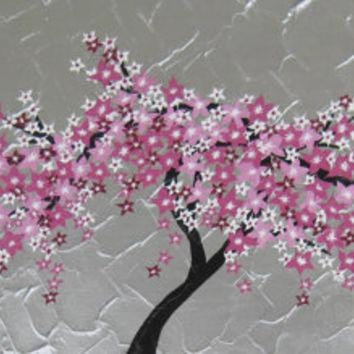 Shop Cherry Blossom Tree Wall Art On Wanelo In Abstract Cherry Blossom Wall Art (View 5 of 20)