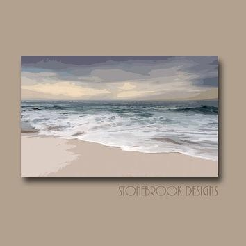 Shop Large Abstract Ocean Canvas Art On Wanelo With Regard To Abstract Beach Wall Art (View 12 of 20)