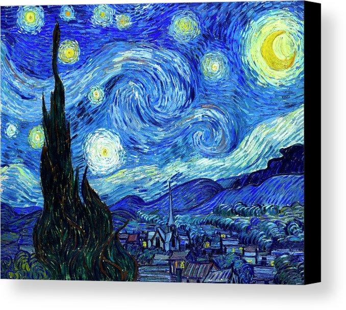 Starry Nightvincent Van Gogh 3 Piece Painting Print On Canvas Pertaining To Vincent Van Gogh Multi Piece Wall Art (Image 13 of 20)