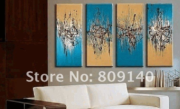 Stretched Simple Black White Grey Abstract Oil Painting Artwork With Abstract Wall Art For Office (View 6 of 15)