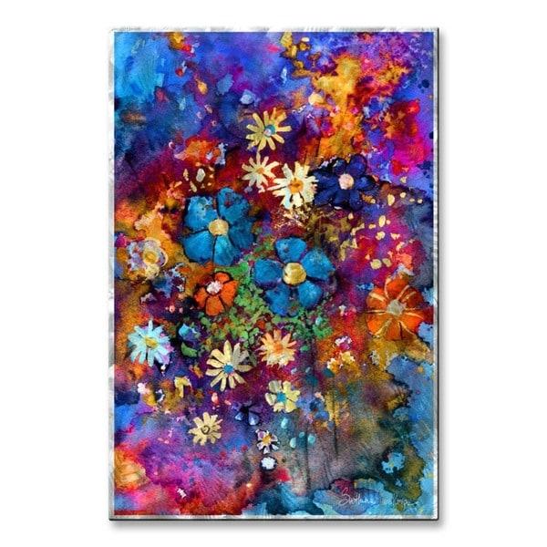 Svetlana Novikova 'abstract Flowers 2' Metal Wall Art – Free Regarding Abstract Flower Metal Wall Art (Image 10 of 15)