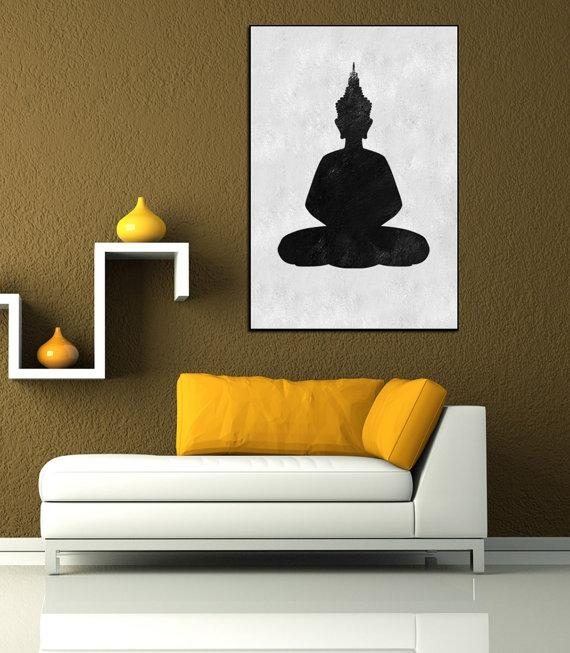 Textured Painting Canvas Art, Hand Painted Buddha Painting, Huge Throughout Abstract Buddha Wall Art (View 5 of 20)