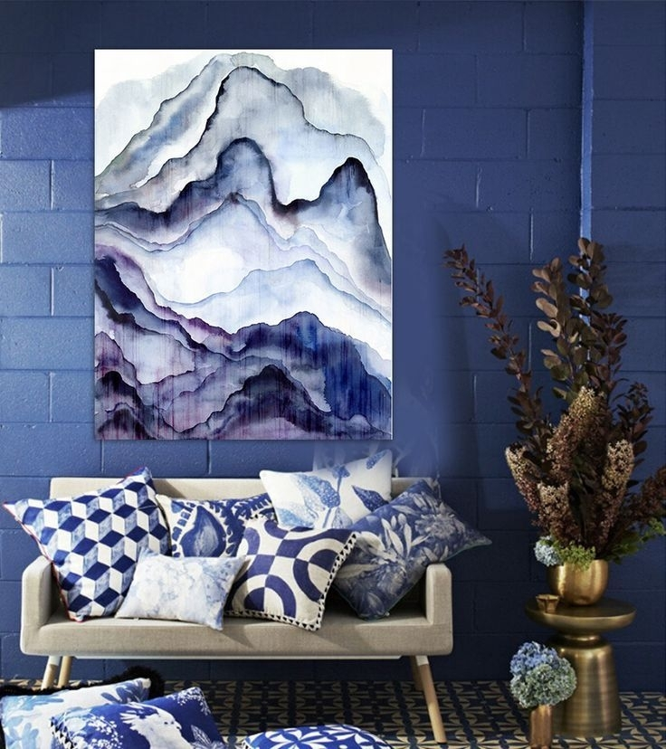 The 25+ Best Canvas Art Ideas On Pinterest | Diy Canvas Art, Diy For Dark Blue Abstract Wall Art (View 12 of 15)