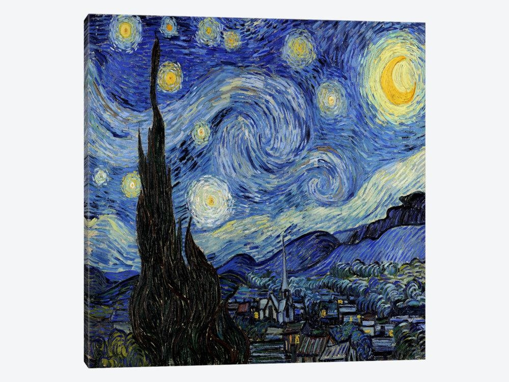 The Starry Night Canvas Artvincent Van Gogh | Icanvas Pertaining To Vincent Van Gogh Wall Art (View 8 of 20)