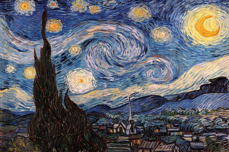 The Starry Night Canvas Wall Artvincent Van Gogh | Icanvas Within Vincent Van Gogh Wall Art (View 6 of 20)