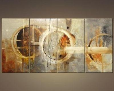 Three Signs Of Rain Modern Canvas Art Wall Decor Abstract Oil Inside Abstract Wall Art Canvas (Image 18 of 20)