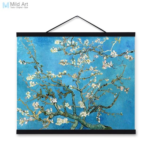 Vincent Van Gogh Famous Blue Modern Impressionist Flowers Poster In Vincent Van Gogh Multi Piece Wall Art (Image 16 of 20)