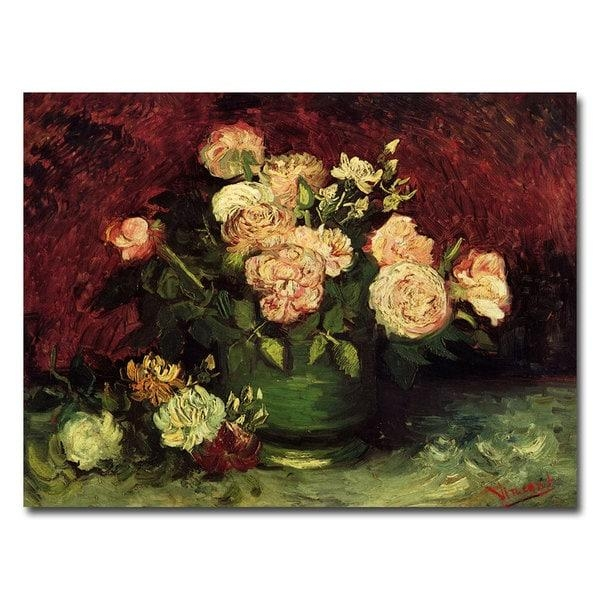Vincent Van Gogh 'peonies And Roses' Canvas Art – Free Shipping On For Vincent Van Gogh Multi Piece Wall Art (Image 15 of 20)