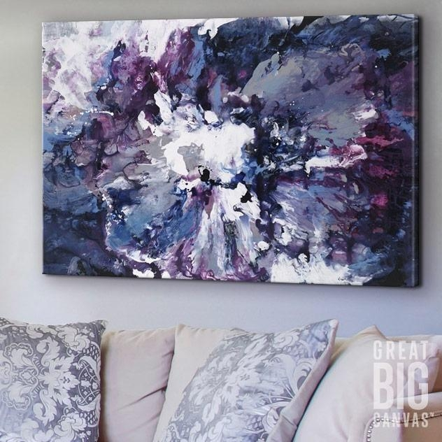 Violet Waters Seduction | Violets, Abstract Wall Art And Walls Intended For Bold Abstract Wall Art (Image 18 of 20)