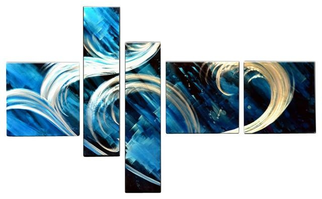 Wall Art: Apealling Wall Art Blue To Redicorate Adorned Your Home Intended For Blue Abstract Wall Art (Image 19 of 20)