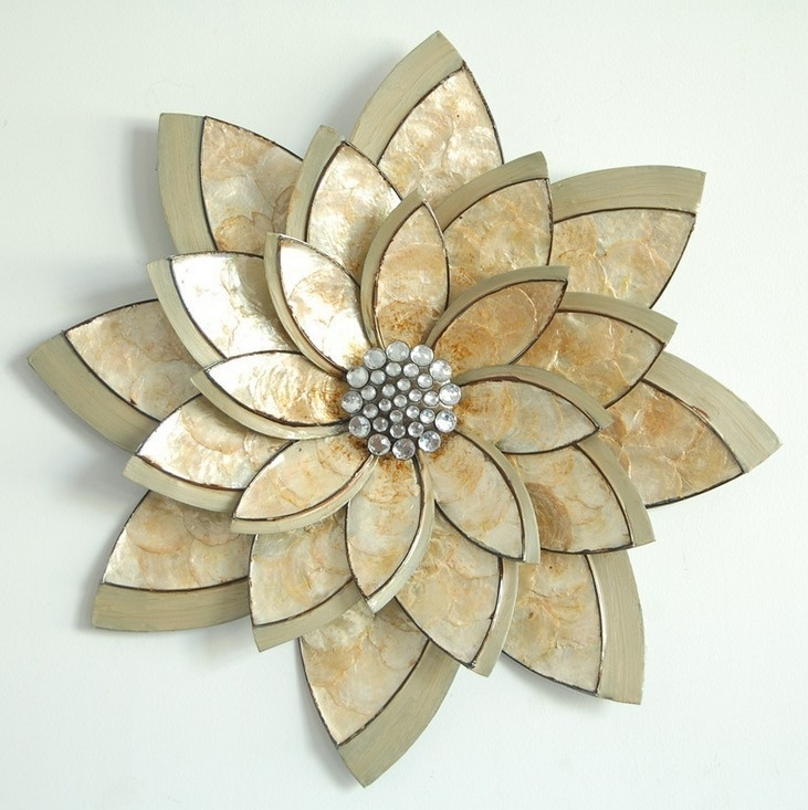 Wall Art: Best Pictures About Metal Wall Art Flowers Wall With Abstract Flower Metal Wall Art (Image 15 of 15)