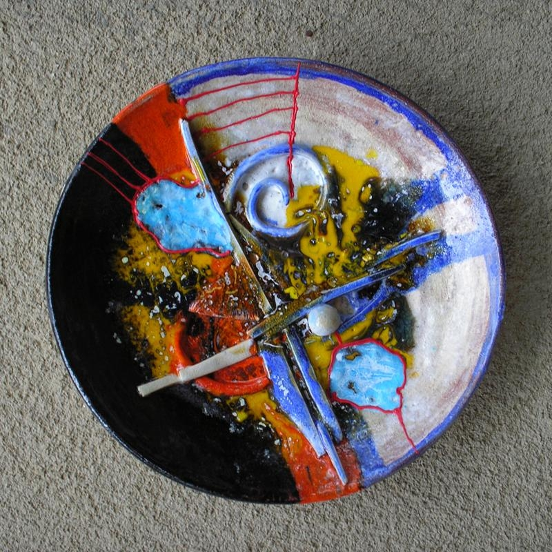 Wall Art Ceramic | Mincho Armeykov Throughout Abstract Ceramic Wall Art (Image 14 of 16)